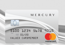 mercury credit card login